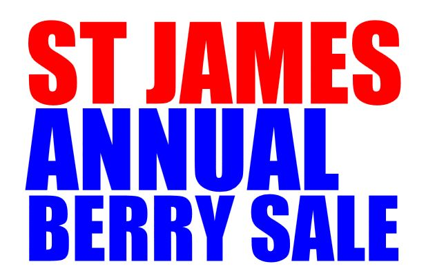 St James Annual Berry Sale