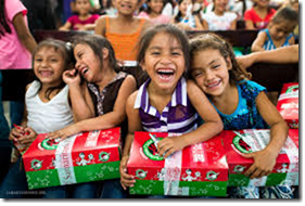 Reminder – Christmas Child Shoeboxes Due Nov. 17th.